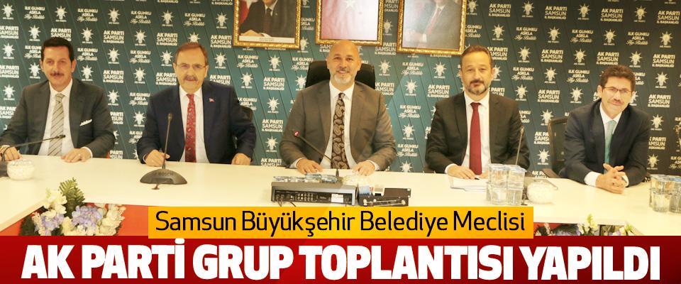 Samsun Büyükşehir Belediye Meclisi Ak Parti Grup Toplantısı Yapıldı