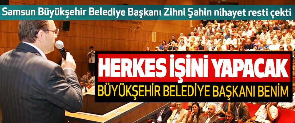 Samsun Büyükşehir Belediye Başkanı Zihni Şahin nihayet resti çekti