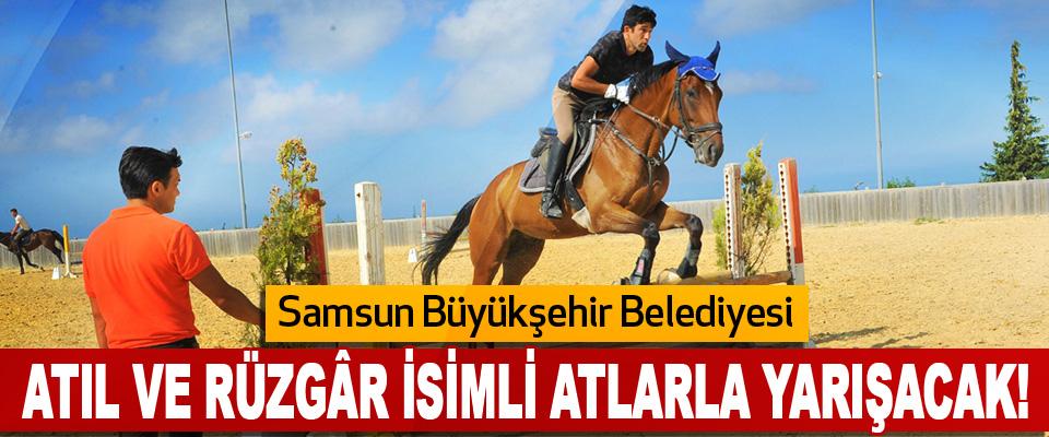 Samsun Büyükşehir Belediyesi Atıl ve Rüzgâr İsimli Atlarla Yarışacak!