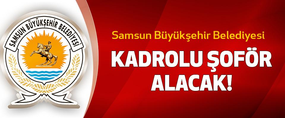 Samsun büyükşehir belediyesi kadrolu şoför alacak!