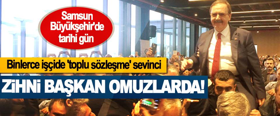 Samsun Büyükşehir'de tarihi gün, Binlerce işçide 'toplu sözleşme' sevinci