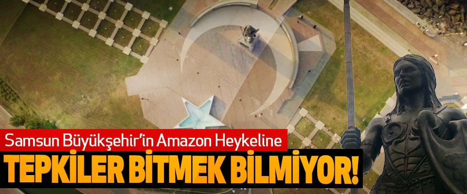 Samsun Büyükşehir'in Amazon heykeline Tepkiler Bitmek Bilmiyor!