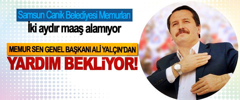 Samsun Canik Belediyesi Memurları Memur Sen Genel Başkanı Ali Yalçın'dan Yardım Bekliyor!