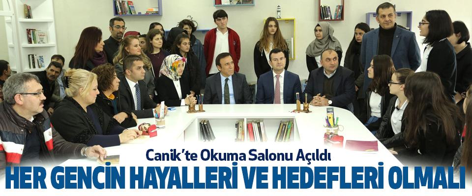Samsun Canik'te Okuma Salonu Açıldı