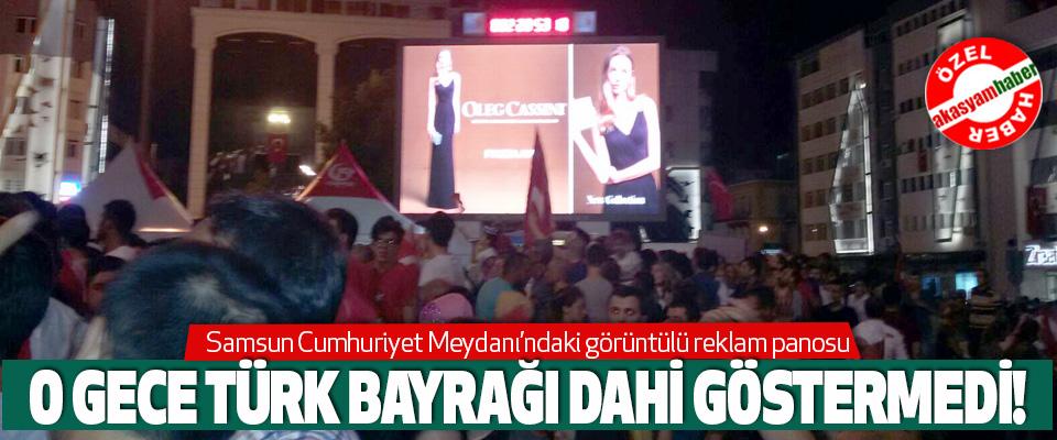 Samsun Cumhuriyet Meydanı'ndaki görüntülü reklam panosu rezaleti