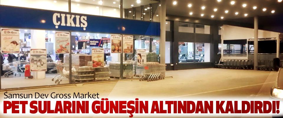 Samsun Dev Gross Market Pet sularını güneşin altından kaldırdı!