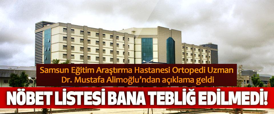 Samsun Eğitim Araştırma Hastanesi Ortopedi Uzman Dr. Mustafa Alimoğlu'ndan açıklama geldi