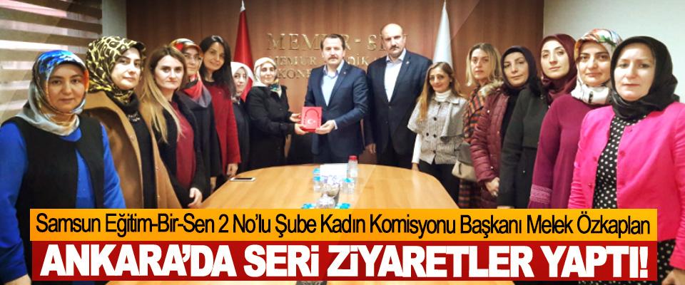 Samsun Eğitim-Bir-Sen 2 No'lu Şube Kadın Komisyonu Başkanı Melek Özkaplan Ankara'da seri ziyaretler yaptı!