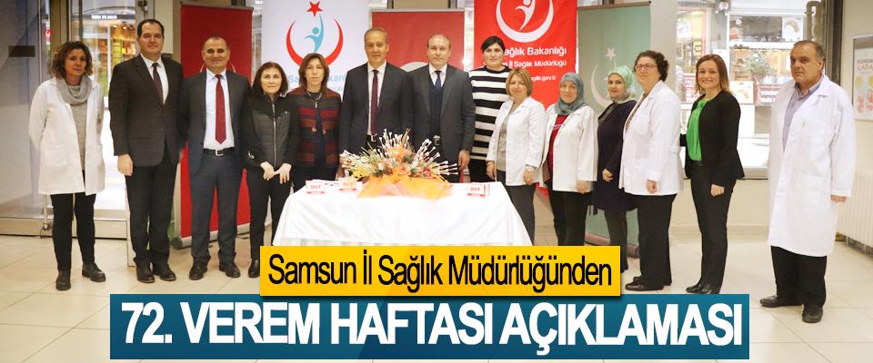 Samsun İl Sağlık Müdürlüğünden 72. Verem Haftası Açıklaması