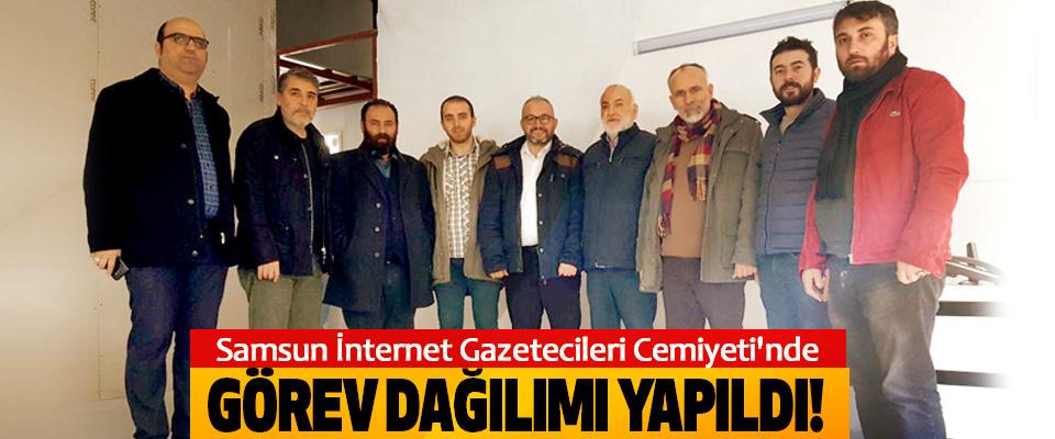 Samsun İnternet Gazetecileri Cemiyeti'nde Görev dağılımı yapıldı!