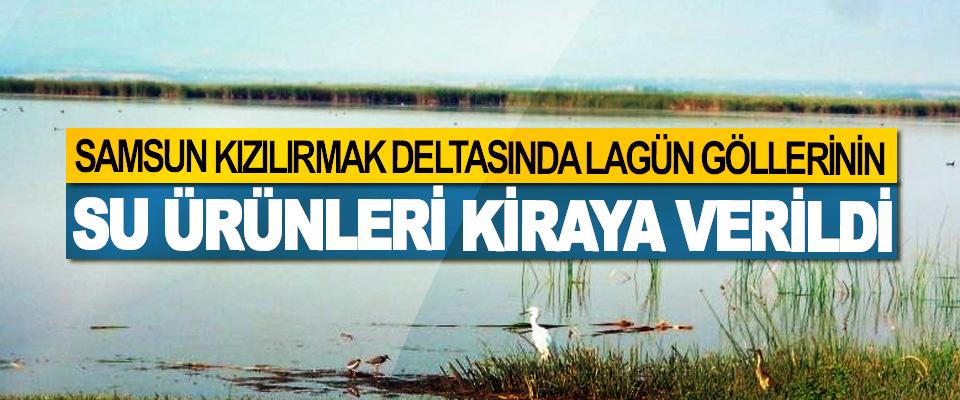Samsun Kızılırmak Deltasında Lagün Göllerinin Su Ürünleri Kiraya Verildi