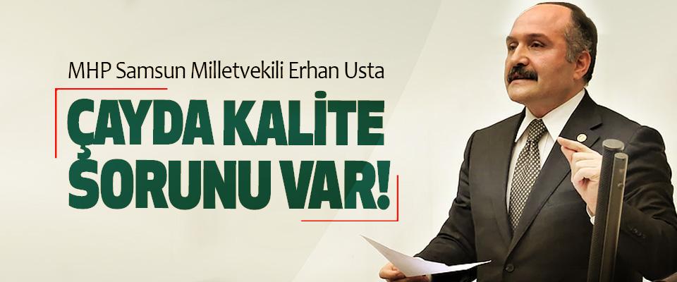Samsun Milletvekili ve MHP Grup Başkanvekili Erhan Usta: Çayda kalite sorunu var!