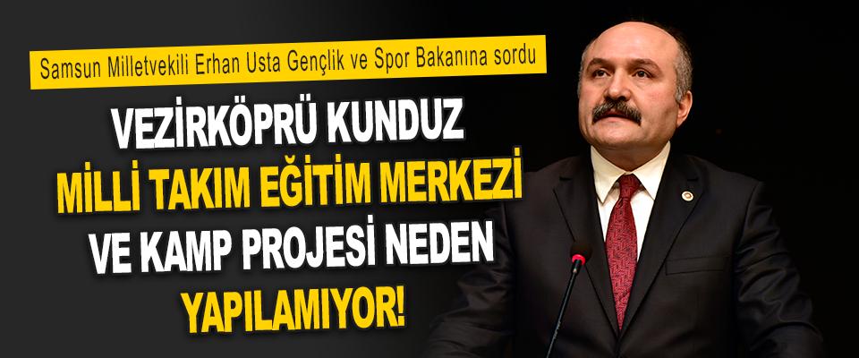 Samsun Milletvekili Erhan Usta Gençlik ve Spor Bakanına Sordu