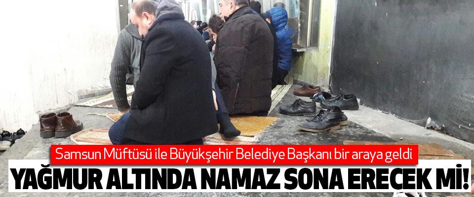 Samsun Müftüsü ile Büyükşehir Belediye Başkanı bir araya geldi