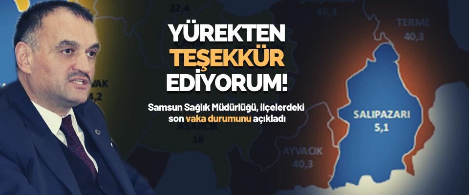 Samsun Sağlık Müdürlüğü, İlçelerdeki Son Vaka Durumunu Açıkladı