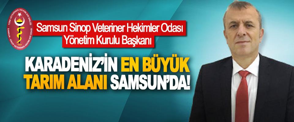 Samsun Sinop Veteriner Hekimler Odası Yönetim Kurulu Başkanı  Karadeniz'in en büyük tarım alanı Samsun'da!