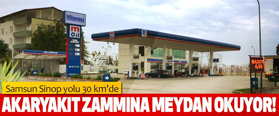 Samsun Sinop yolu 30 km'de M OİL Akaryakıt Zammına Meydan Okuyor!