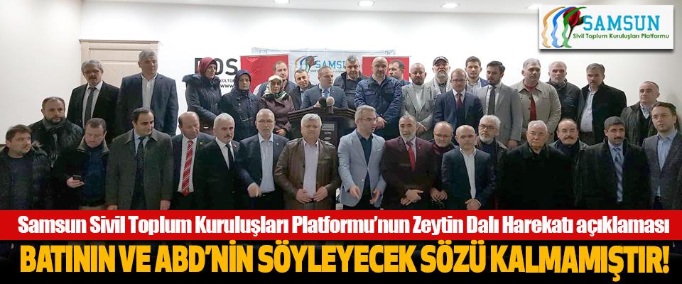 Samsun Sivil Toplum Kuruluşları Platformu'nun Zeytin Dalı Harekatı açıklaması