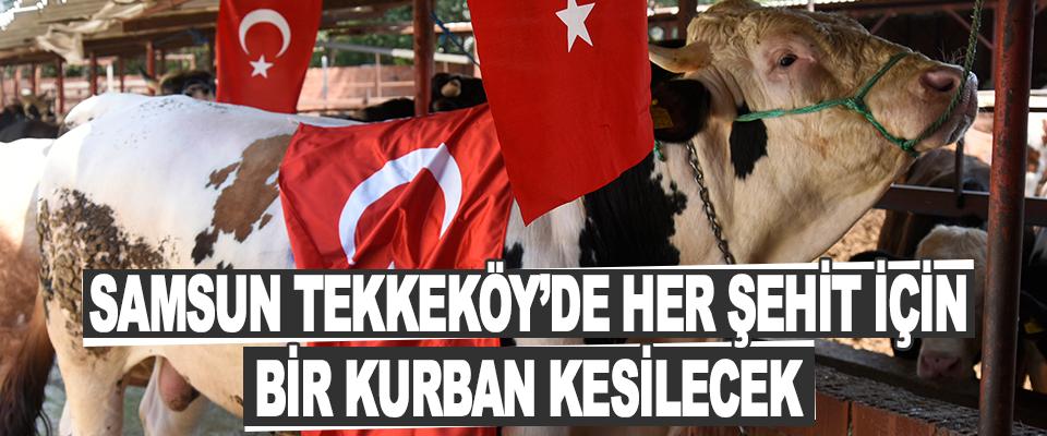 Samsun Tekkeköy'de Her Şehit İçin Bir Kurban Kesilecek