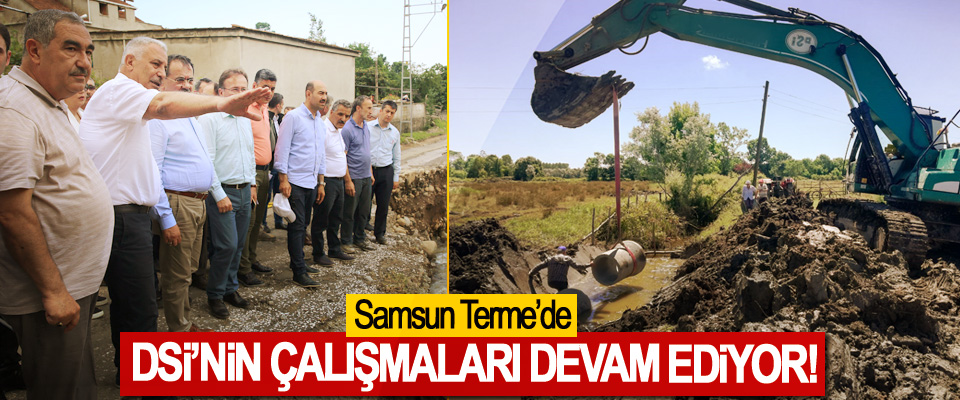 Samsun Terme'de DSİ'nin çalişmalari devam ediyor!