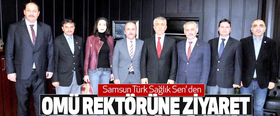 Samsun Türk Sağlık Sen' den Omü Rektörüne Ziyaret