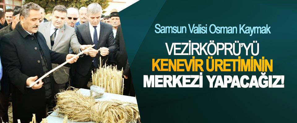 Samsun Valisi Osman Kaymak: Vezirköprü'yü kenevir üretiminin merkezi yapacağız!