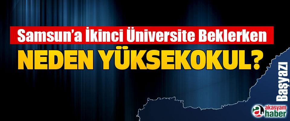 Samsun'a İkinci Üniversite Beklerken Neden Yüksekokul?