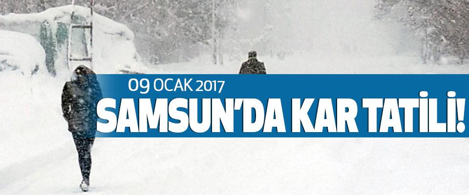 Samsun'da 09 Ocak kar tatili!