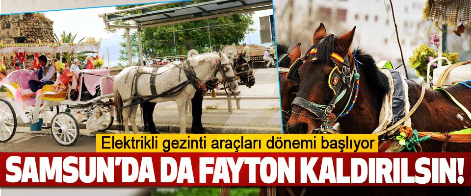 Samsun'da da faytonlar kaldırılsın!