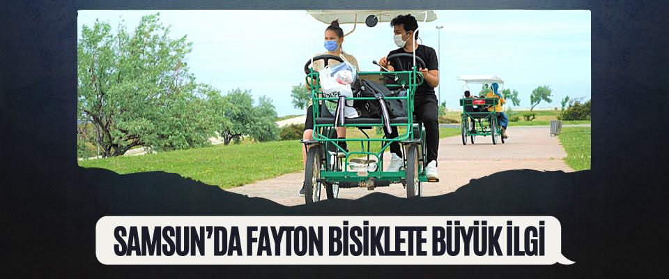 Samsun'da Fayton Bisiklete Büyük İlgi