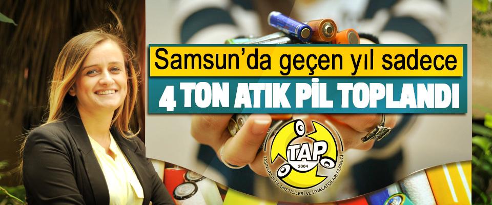 Samsun'da geçen yıl sadece 4 Ton Atık Pil Toplandı