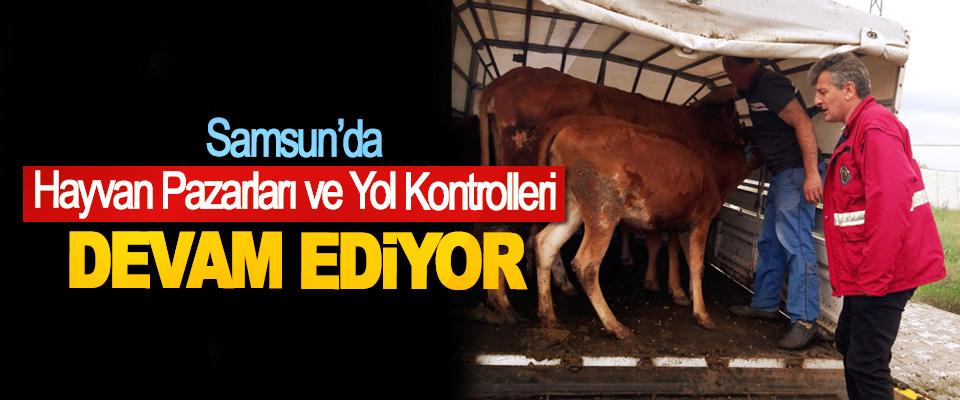 Samsun'da Hayvan Pazarları ve Yol Kontrolleri Devam Ediyor