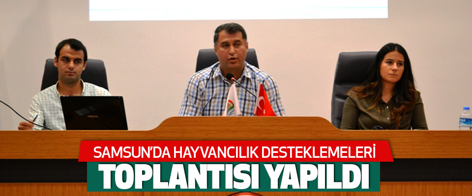 Samsun'da Hayvancılık Desteklemeleri Toplantısı Yapıldı