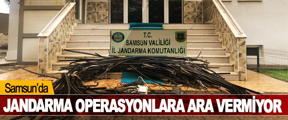Samsun'da Jandarma Operasyonlara Ara Vermiyor