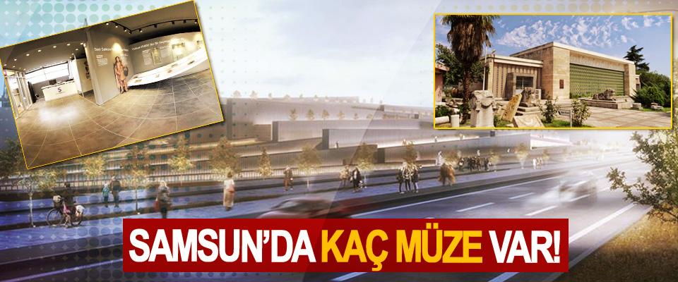 Samsun'da kaç müze var!