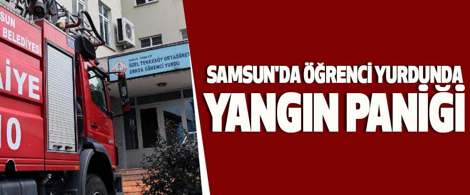 Samsun'da Öğrenci Yurdunda Yangın Paniği