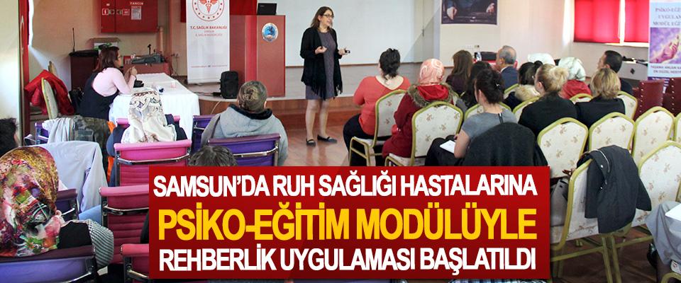 Samsun'da ruh sağlığı hastalarına  Psiko-eğitim modülüyle rehberlik uygulaması başlatıldı