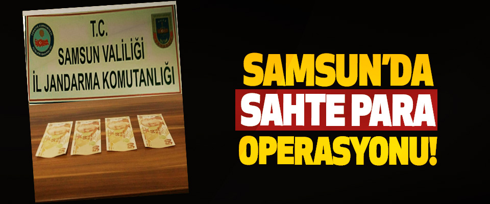 Samsun'da sahte para operasyonu!