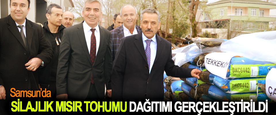 Samsun'da Silajlık Mısır Tohumu Dağıtımı Gerçekleştirildi
