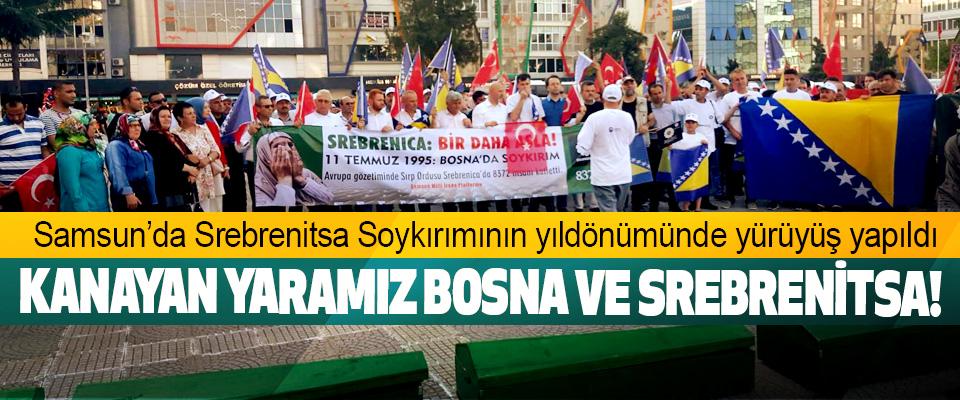 Samsun'da Srebrenitsa Soykırımının yıldönümünde yürüyüş yapıldı