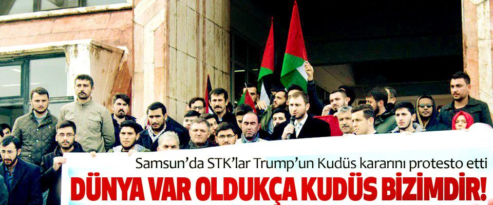 Samsun'da STK'lar Trump'un Kudüs kararını protesto etti