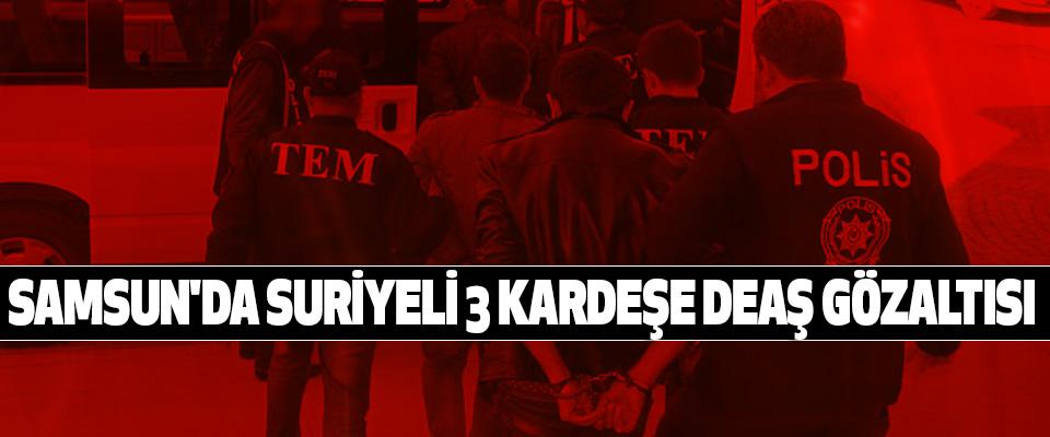 Samsun'da Suriyeli 3 Kardeşe Deaş Gözaltısı
