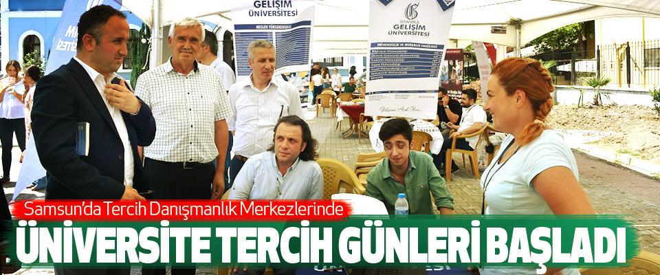 Samsun'da Tercih Danışmanlık Merkezlerinde Üniversite Tercih Günleri Başladı
