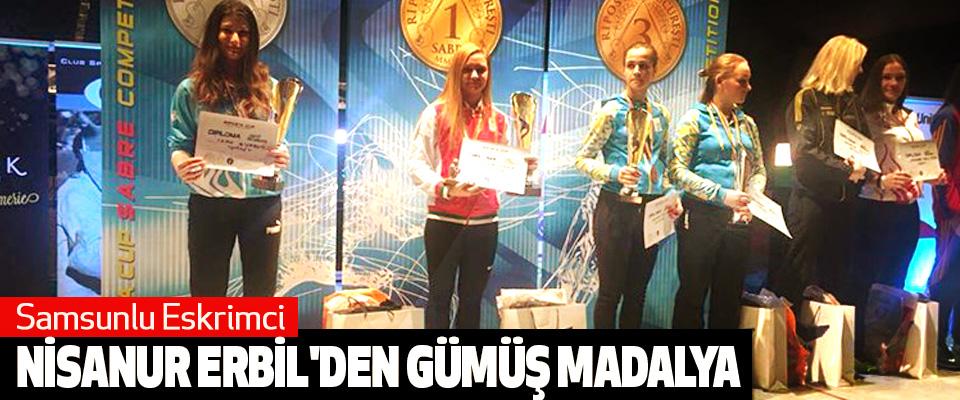 Samsunlu Eskrimci Nisanur Erbil'den Gümüş Madalya