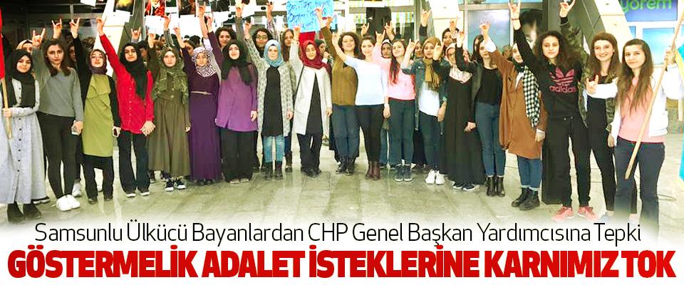 Samsunlu Ülkücü Bayanlardan CHP Genel Başkan Yardımcısına Tepki