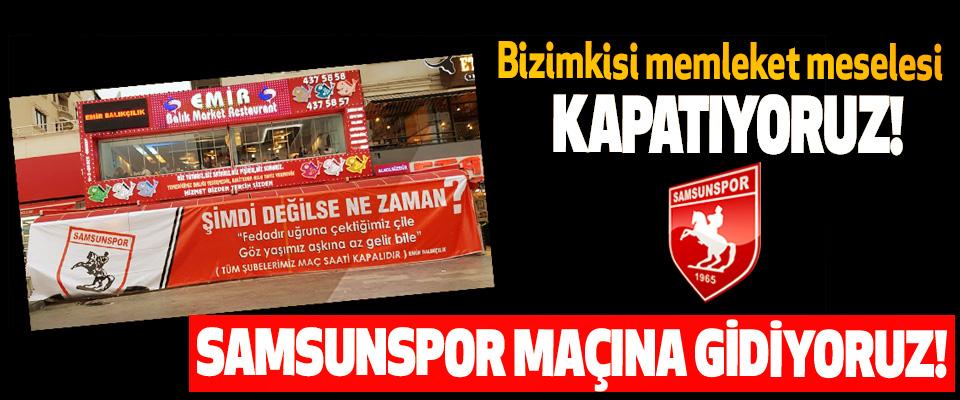 Samsunspor maçına gidiyoruz!