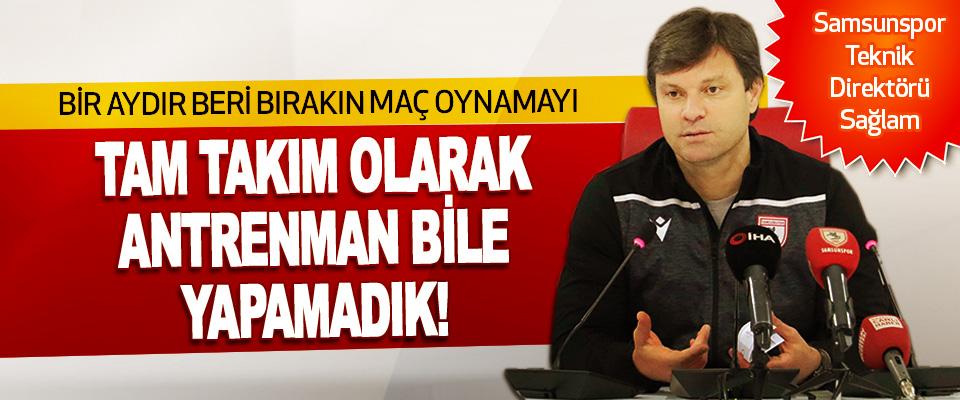 Samsunspor Teknik Direktörü Ertuğrul Sağlam'dan Açıklama