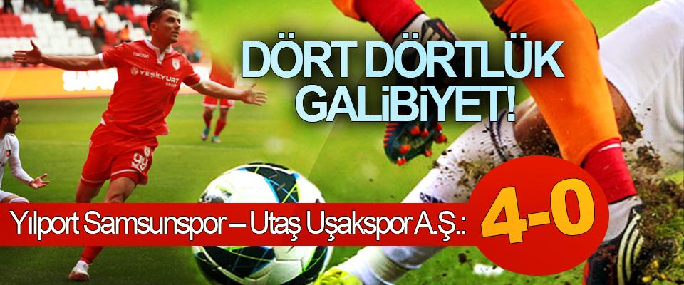 Samsunspor'dan dört dörtlük galibiyet!