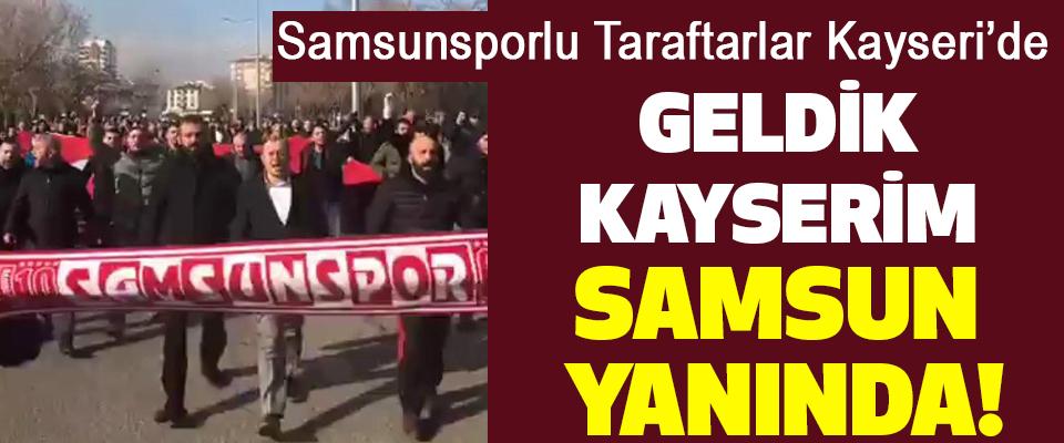 Samsunsporlu Taraftarlar Kayseri'de