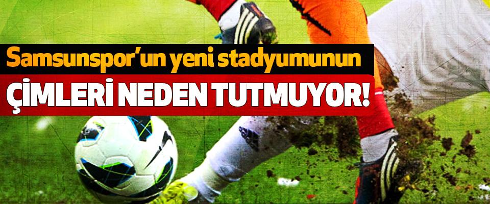 Samsunspor'un yeni stadyumunun Çimleri neden tutmuyor!